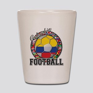 Colombia Flag World Cup Footb Shot Glass