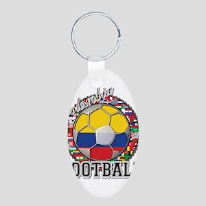 Colombia Flag World Cup Footb Aluminum Oval Keycha
