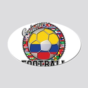 Colombia Flag World Cup Footb 22x14 Oval Wall Peel