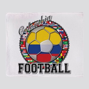 Colombia Flag World Cup Footb Throw Blanket