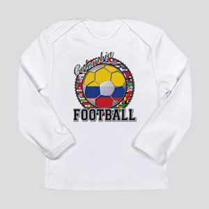 Colombia Flag World Cup Footb Long Sleeve Infant T