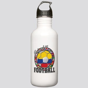 Colombia Flag World Cup Footb Stainless Water Bott
