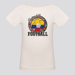 Colombia Flag World Cup Footb Organic Baby T-Shirt
