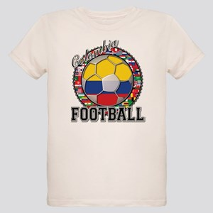 Colombia Flag World Cup Footb Organic Kids T-Shirt