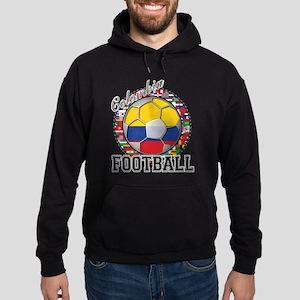 Colombia Flag World Cup Footb Hoodie (dark)