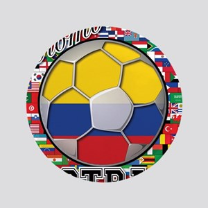 "Colombia Flag World Cup Footb 3.5"" Button"