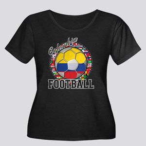Colombia Flag World Cup Footb Women's Plus Size Sc