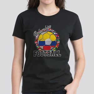 Colombia Flag World Cup Footb Women's Dark T-Shirt