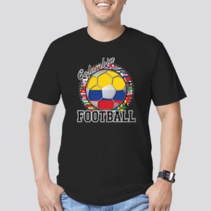 Colombia Flag World Cup Footb Men's Fitted T-Shirt