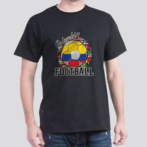 Colombia Flag World Cup Footb Dark T-Shirt