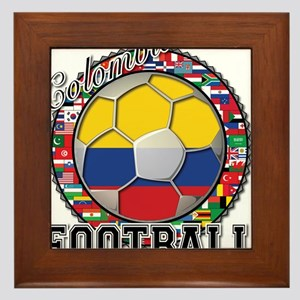 Colombia Flag World Cup Footb Framed Tile