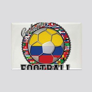 Colombia Flag World Cup Footb Rectangle Magnet