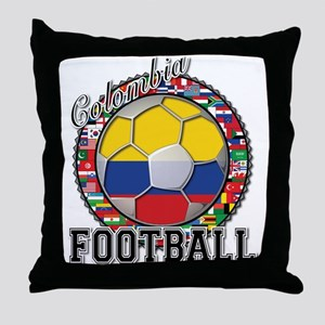 Colombia Flag World Cup Footb Throw Pillow