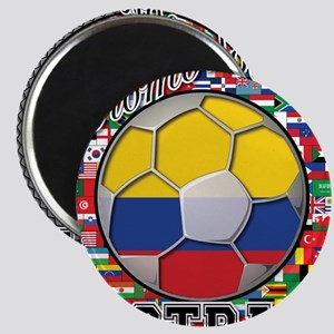 Colombia Flag World Cup Footb Magnet