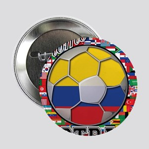 "Colombia Flag World Cup Footb 2.25"" Button"