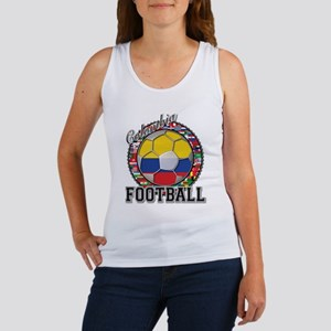 Colombia Flag World Cup Footb Women's Tank Top