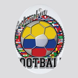Colombia Flag World Cup Footb Ornament (Oval)