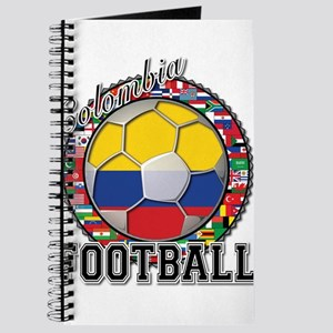 Colombia Flag World Cup Footb Journal