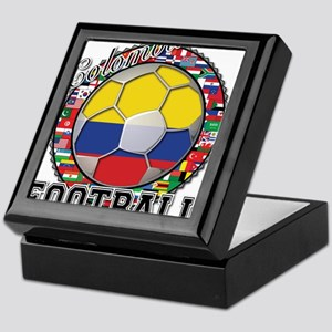 Colombia Flag World Cup Footb Keepsake Box