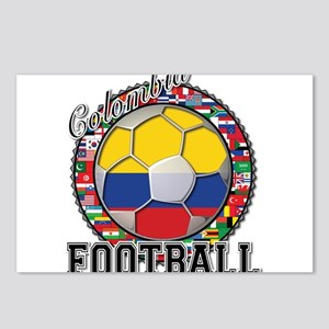 Colombia Flag World Cup Footb Postcards (Package o