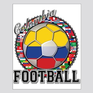 Colombia Flag World Cup Footb Small Poster