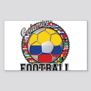 Colombia Flag World Cup Footb Sticker (Rectangle)