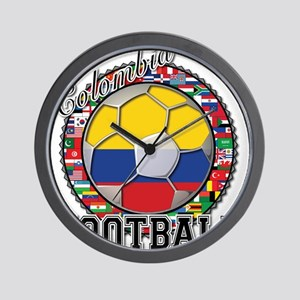Colombia Flag World Cup Footb Wall Clock