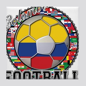 Colombia Flag World Cup Footb Tile Coaster