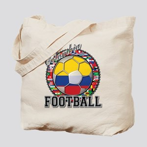 Colombia Flag World Cup Footb Tote Bag
