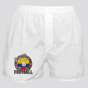 Colombia Flag World Cup Footb Boxer Shorts