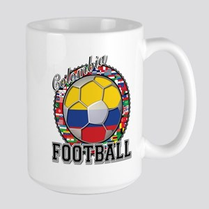 Colombia Flag World Cup Footb Large Mug