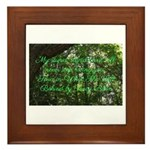 What She Left Behind Quote Framed Tile