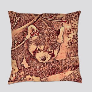 RedPanda_20170601_by_JAMColors Everyday Pillow