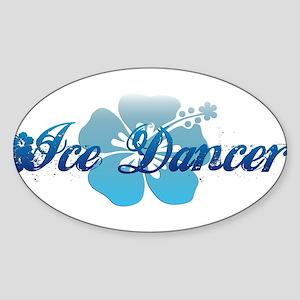 Ice Dancer 2 Sticker (Oval)