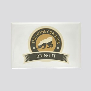 Honey Badger Bring It Rectangle Magnet