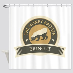 Honey Badger Bring It Shower Curtain