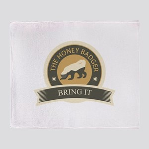 Honey Badger Bring It Throw Blanket