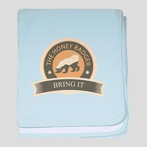 Honey Badger Bring It baby blanket