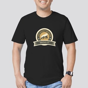 Honey Badger Bring It Men's Fitted T-Shirt (dark)