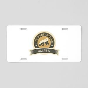 Honey Badger Bring It Aluminum License Plate