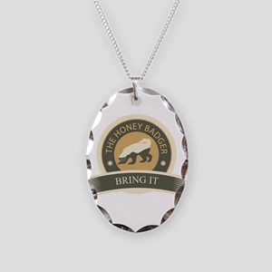 Honey Badger Bring It Necklace Oval Charm