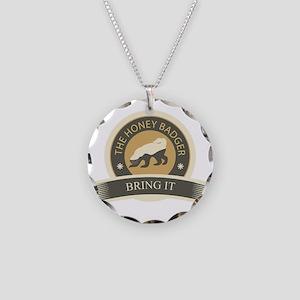 Honey Badger Bring It Necklace Circle Charm