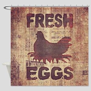 Fresh Eggs Shower Curtain