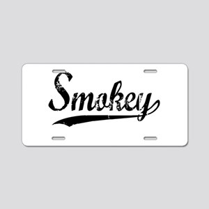 Smokey Aluminum License Plate