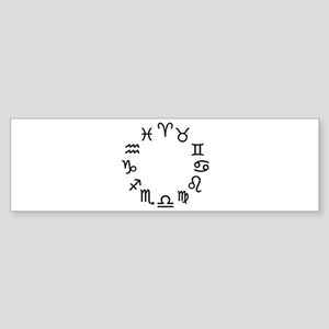 Zodiac signs Sticker (Bumper)
