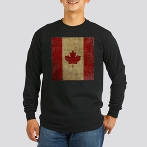 Vintage Canada Long Sleeve Dark T-Shirt