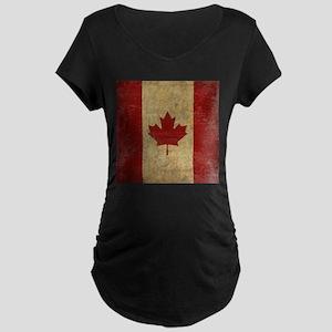 Vintage Canada Maternity Dark T-Shirt