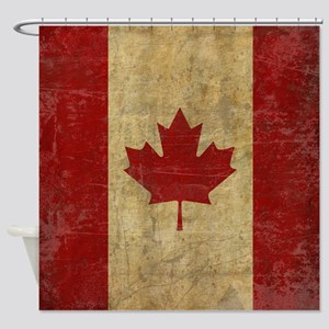 Vintage Canada Shower Curtain