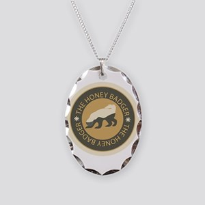 Honey Badger Necklace Oval Charm