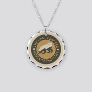 Honey Badger Necklace Circle Charm